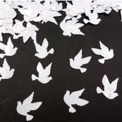 Confettis de table mariage Colombe Blanc