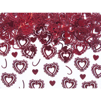 Confettis de table original coeur rouge