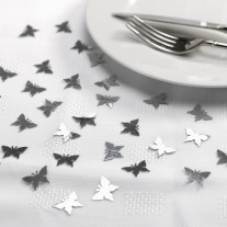 Confettis de table Papillon Argent