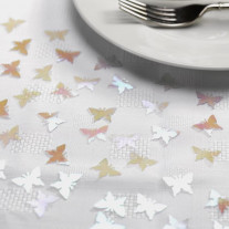 Confettis de table Papillon Blanc irisé