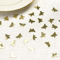 Confettis de table Papillon Or
