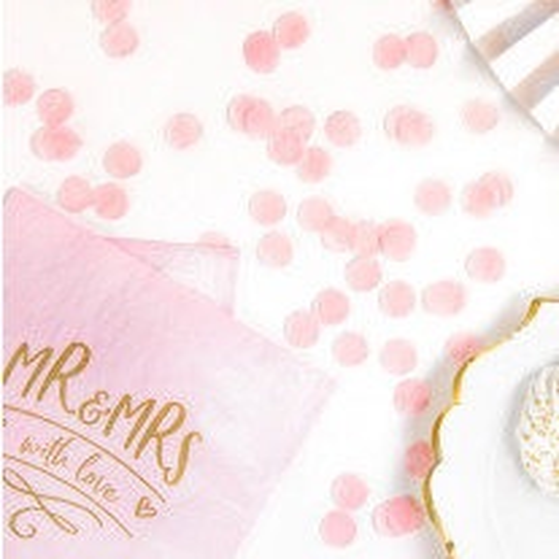 Confettis de table mariage rond Rose