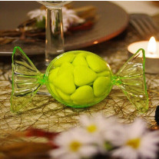 Contenant à dragées plastique Bonbon Vert Anis