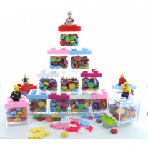 Contenant dragees plexi LEGO Blanc
