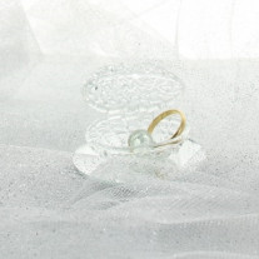 Coquillage dragees en verre socle miroir