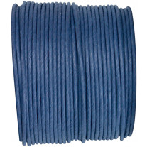 Cordon en Papier Laitonné Bleu marine 20m