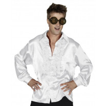 Costume Homme Chemise satin Blanche XL