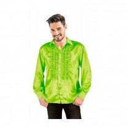 Costume Homme Chemise satin Vert anis XL