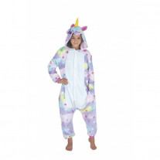 Costume Kigurumi Licorne Avec Étoiles Enfant T 11-14 Ans