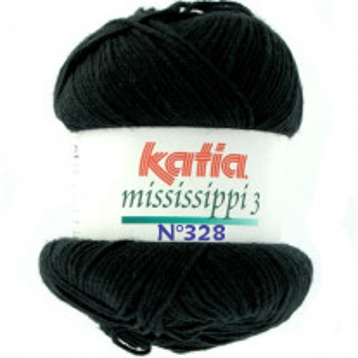 Coton Katia Mississippi 3 Noir