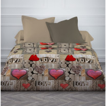 Couette imprimée TODAY 220X240 Love Chalet