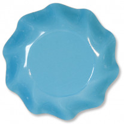 Coupelle en carton jetable Turquoise vague