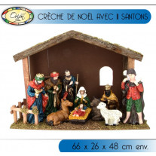 Crèche De Noel Classique avec 11 Santons