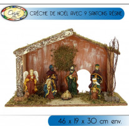 Creche de noel originale avec 9 santons luxe
