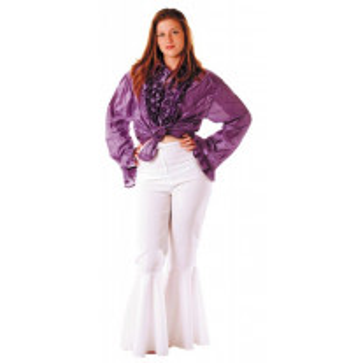 Déguisement Femme Pantalon Disco Blanc