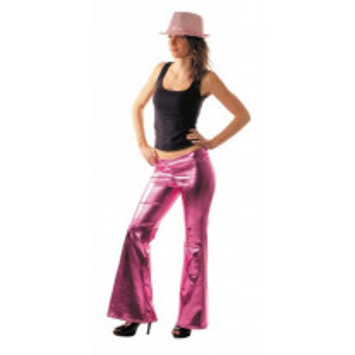 Déguisement Femme Pantalon Disco Rose Gold