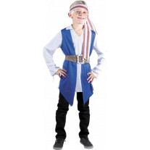 Déguisement Garçon Pirate Bleu 4/6 ans