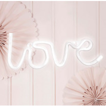 Decoration mariage LOVE en LED Blanc (Badaboum)