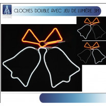 Double cloche lumineue de noel