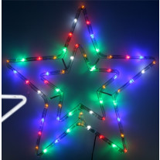 Double étoile lumineuse de Noel Multicolore