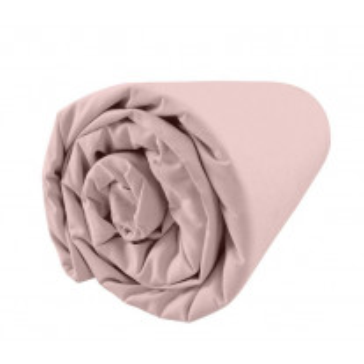 Drap housse percale 160x200 cm Rose