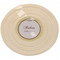 Ruban Satin Ecru 6mm x 25 metres