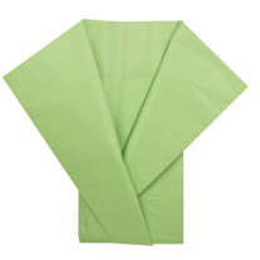 Feuille de papier de soie Vert anis x 5 pièces