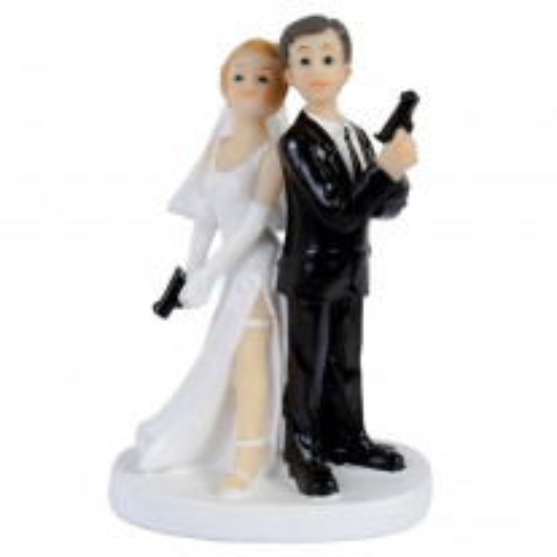 Figurine de mariage Couple de Mariés Espion