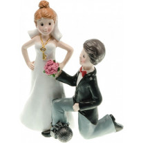 Figurine mariage homme a genoux