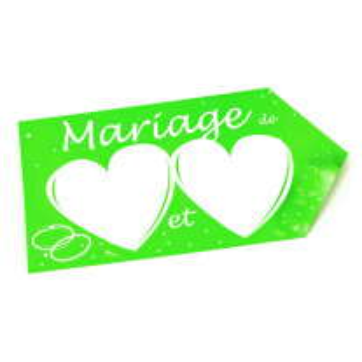 Flèche de direction mariage Vert anis