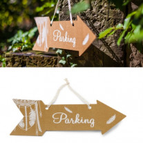 Fleche signaletique Parking Boho