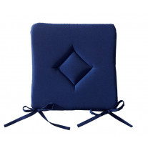 Galette de chaise Bleu marine