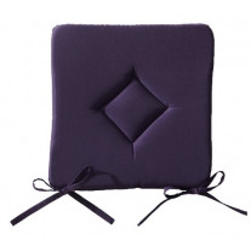 Galette de chaise Violet Carrée 40x40 cm