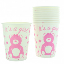 Gobelet carton Baby shower Fille