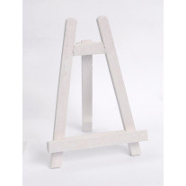 Chevalet de table pailleté Blanc 18 cm