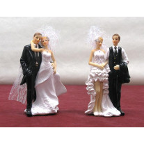 Grand couple de mariés assortis 15cm