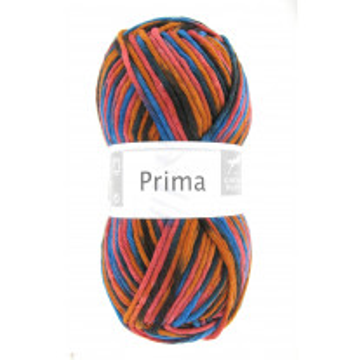 Grosse pelote de laine pas cher Prima Orange Noir