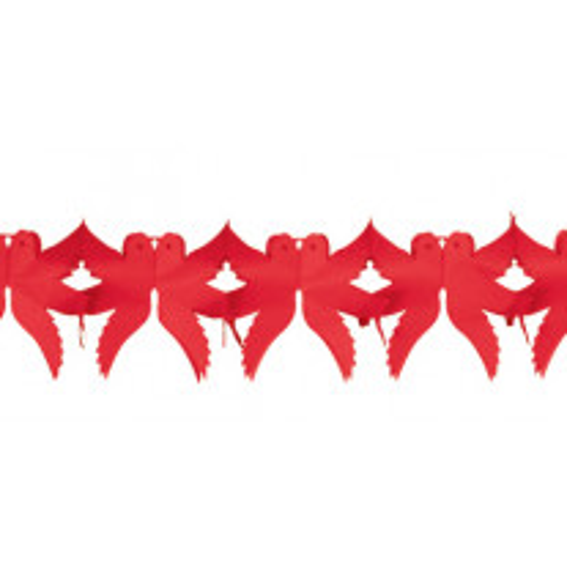 Guirlande Colombes à suspendre Rouge