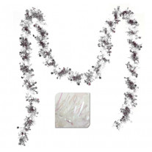 Guirlande de noel Etoile Blanc Argent