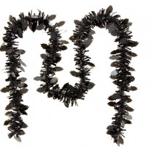Guirlande de noel feuille de houx Noire