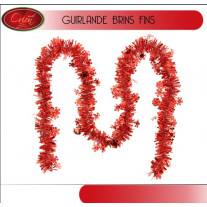 Guirlande de noel flocon de neige Rouge