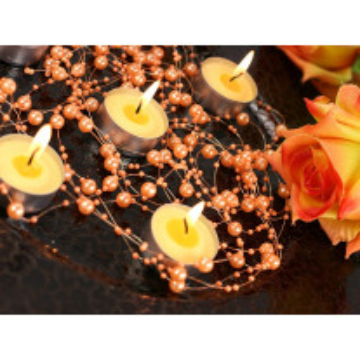 Guirlande de perle decorative Orange