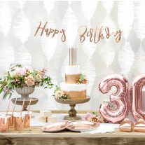 Guirlande decoration Happy birthday Rose Gold
