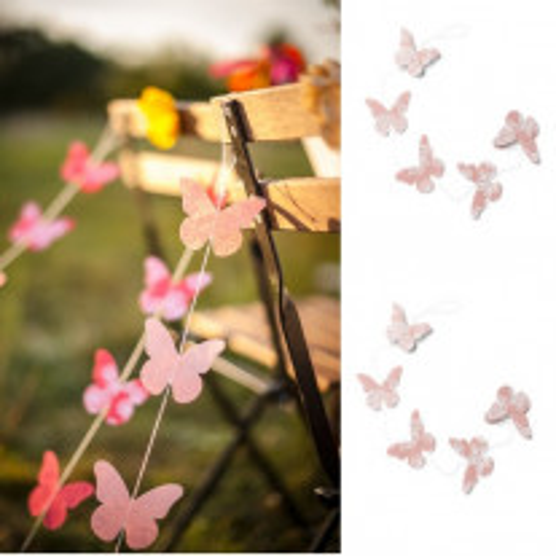 Guirlande lin avec papillons Gypsy Rose
