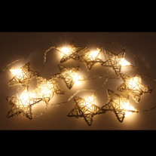 Guirlande lumineuse a pile tissée forme étoile