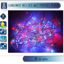 Guirlande lumineuse de Noel 180 LED Multicolore Flash