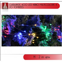Guirlande lumineuse de noel Nano 400 LED Multicolore