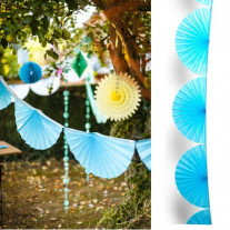Guirlande mariage eventail Turquoise