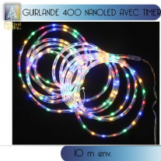Guirlande tube lumineux 400 NanoLED Multicolore