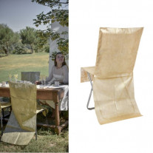 Housse de chaise métallisée Or